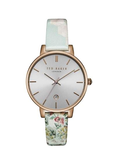 Ted Baker Кварцов часовник с каишка с флорални мотиви Жени
