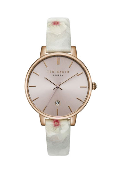 Ted Baker Аналогов часовник с каишка с флорални мотиви Жени