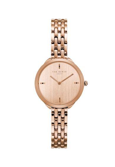 Ted Baker Овален часовник Elana с метална гривна Жени