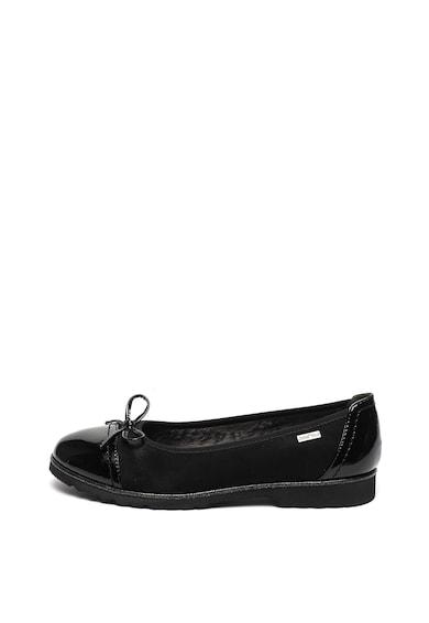 Jana Shoes Пантофки от еко кожа с лачени детайли Жени