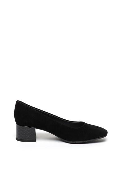 Jana Shoes Велурени обувки с масивен ток Жени