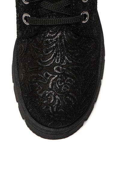 Jana Shoes Кожени боти с лъскава шарка Жени