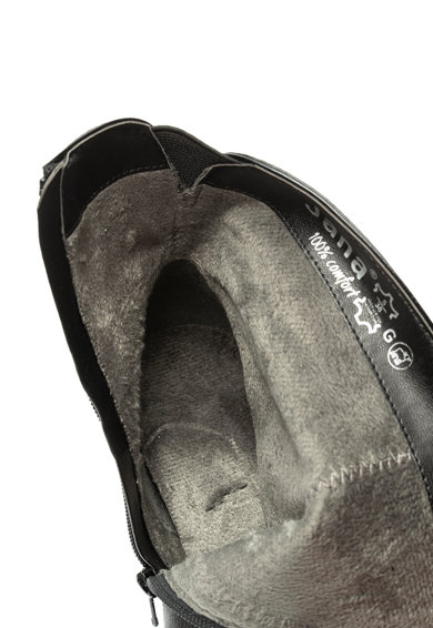 Jana Shoes Botine de piele cu toc masiv si insertii de material sintetic Femei
