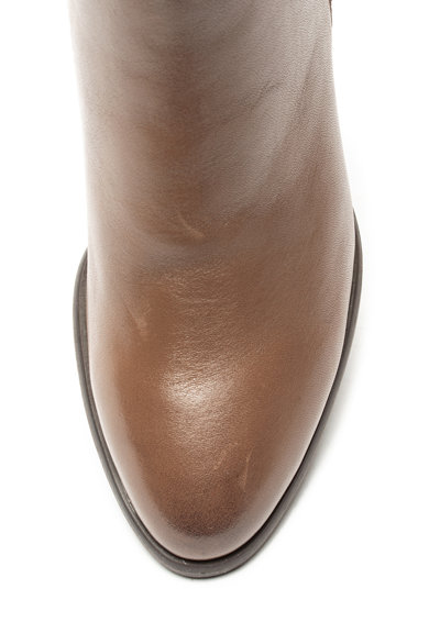 Jana Shoes Боти от велур и еко кожа с декоративна апликация Жени