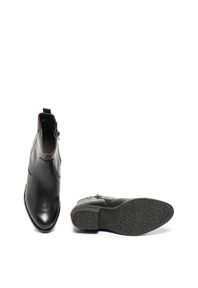 Jana Shoes Ghete din piele cu toc masiv Femei