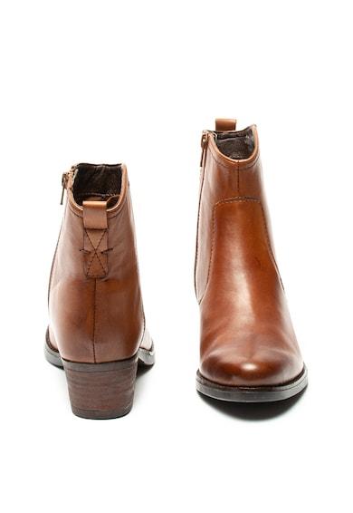 Jana Shoes Ghete de piele cu toc masiv Femei