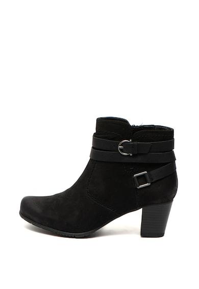 Jana Shoes Botine de piele intoarsa cu catarame decorative Femei