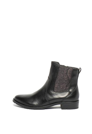 Jana Shoes Кожени боти Chelsea със змийска шарка Жени