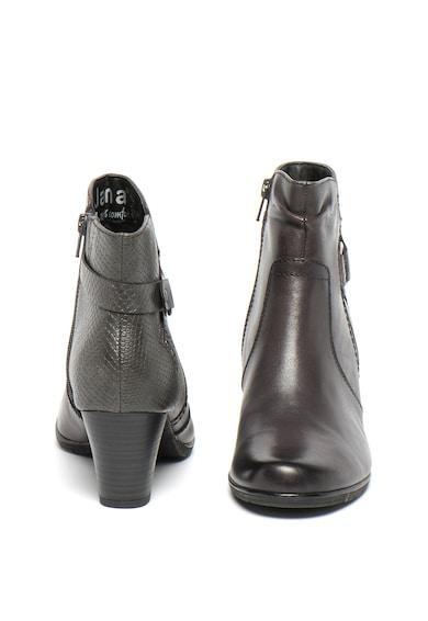 Jana Shoes Botine din piele si piele ecologica, cu model piele de reptila Femei