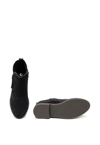 Jana Shoes Ghete de piele intoarsa cu fermoare laterale Femei