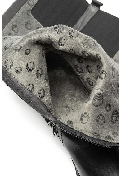 Jana Shoes Кожени боти с овален връх Жени