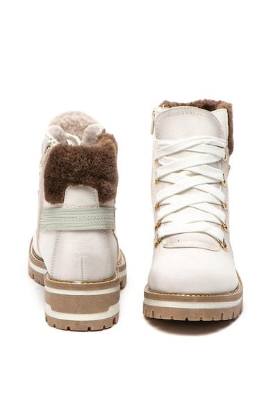 Jana Shoes Bocanci de piele ecologica cu insertii de blana sintetica Femei