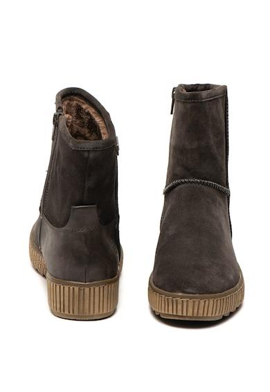 Jana Shoes Ghete de piele intoarsa cu fermoar lateral Femei