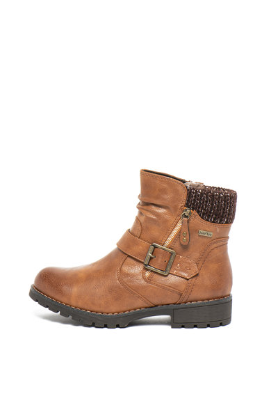 Jana Shoes Боти от еко кожа с трикотажни зони Жени