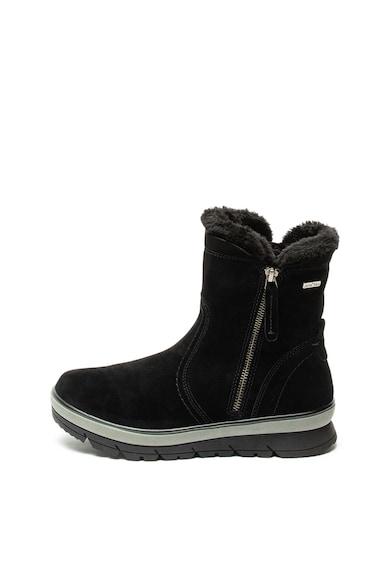 Jana Shoes Велурени боти с вата от еко пух Жени