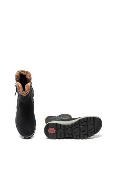 Jana Shoes Велурени боти с плюшена подплата Жени