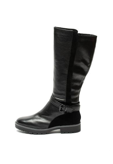 Jana Shoes Cizme lungi pana la genunchi, de piele si piele intoarsa Femei