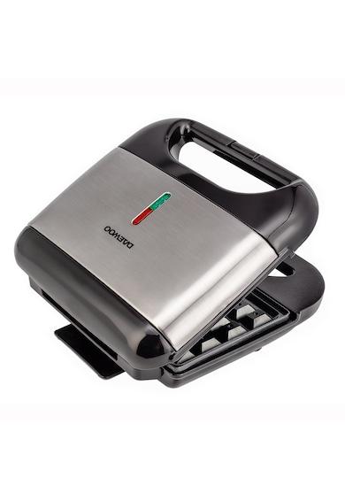 Daewoo Aparat de facut vafe  , 800 W, placi neaderente, termostat, clapeta de blocare, Inox Femei
