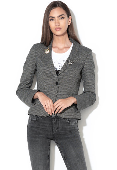 Liu Jo Sacou cu accesorii detasabile si model houndstooth Femei
