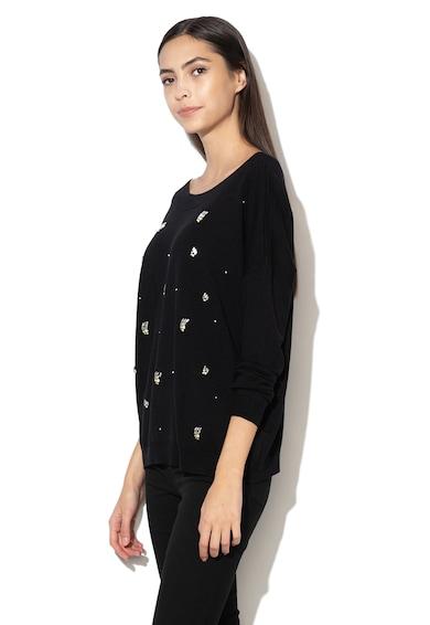 Liu Jo Фино плетен пуловер с декоративни камъни Жени