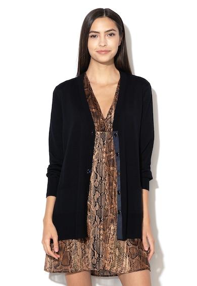Liu Jo Cardigan tricotat fin, de lana, cu garnitura de satin Femei