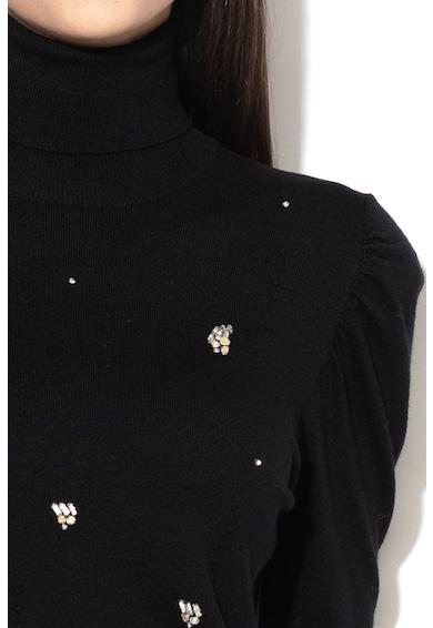 Liu Jo Пуловер с поло и декоративни камъни Жени