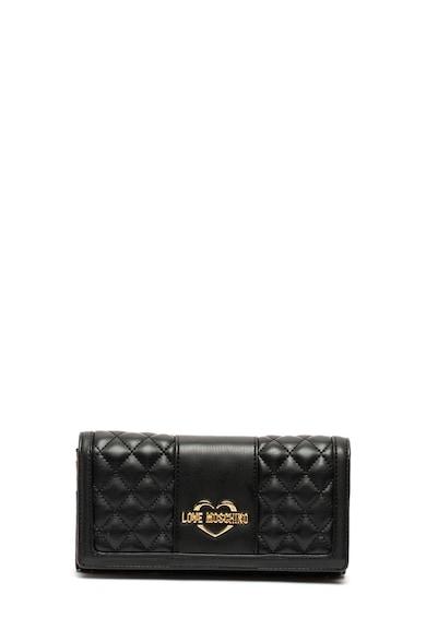 Love Moschino Műbőr pénztárca levehető láncos pánttal női