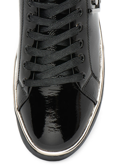 Liu Jo Pantofi sport de piele lacuita cu aplicatie logo Silvia Femei