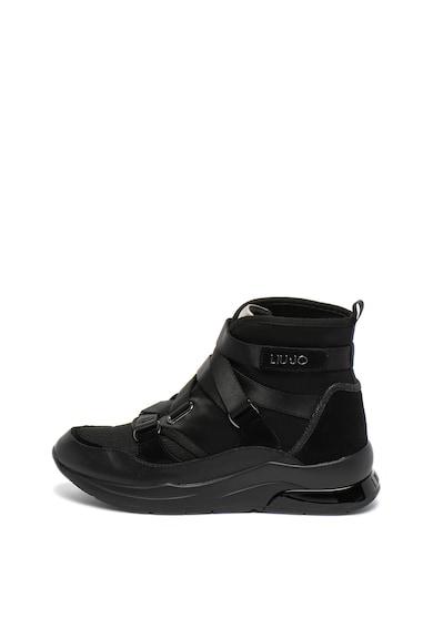 Liu Jo Pantofi sport mid-high cu velcro si insertii de piele Karlie Femei