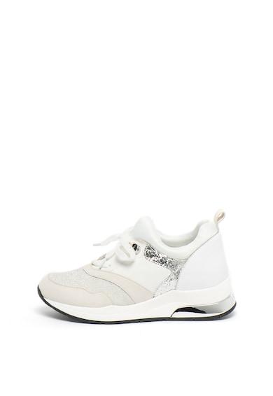 Liu Jo Pantofi sport din material textil si piele ecologica, cu insertii stralucitoare Karlie Femei