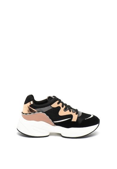 Liu Jo Pantofi sport wedge cu garnituri de piele intoarsa Jog Femei