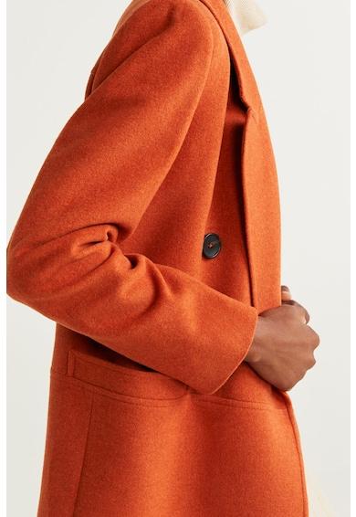 Mango Palton din amestec de lana Rock Femei