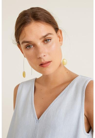 Mango Rochie din cambray cu decolteu in V si model tropical Femei