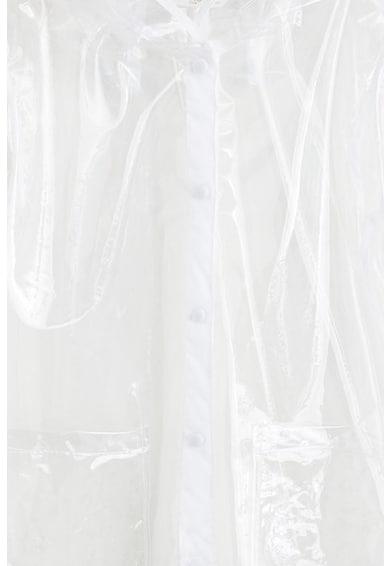 Mango Jacheta transparenta de ploaie, cu gluga Trapi Fete