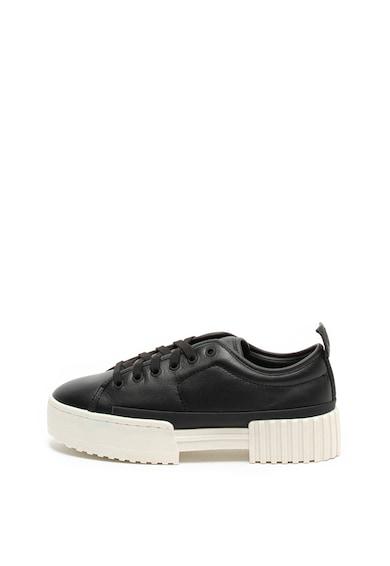 Diesel Pantofi sport flatform de piele Merley Femei