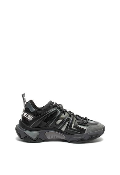 Diesel Pantofi sport cu insertii de piele intoarsa si talpa joasa Kipper Barbati