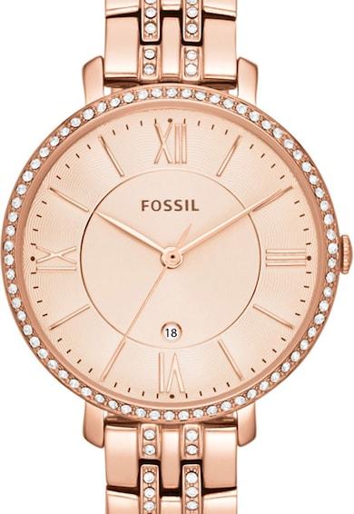 Fossil Ceas decorat cu cristale Jacqueline, Auriu rose Femei