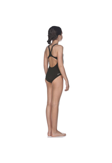 ARENA Costum de inot  Solid Swim Pro pentru fete, Black-White, 8-9 Fete