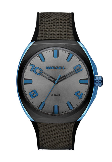 Diesel Часовник с контрастни детайли Мъже
