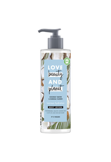 Love Beauty and Planet Lotiune de corp  Luscious Hydration Coconut Water & Mimosa Flower, 400 ml Femei