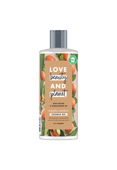 Love Beauty and Planet Gel de dus  Majestic Moisture Shea Butter & Sandalwood Oil, 500 ml Femei