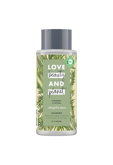 Love Beauty and Planet Sampon  Delightful Detox Rosemary & Vetiver pentru par normal cu tendinta de ingrasare, 400 ml Femei