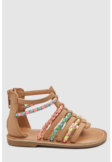 NEXT Sandale cu barete multiple si detalii contrastante Fete