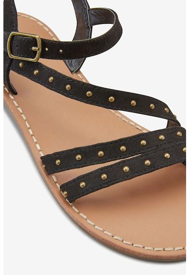 NEXT Sandale de piele intoarsa sintetica, decorate cu nituri Fete