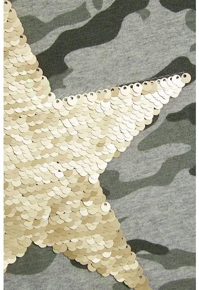 NEXT Tricou cu imprimeu camuflaj si paiete Fete