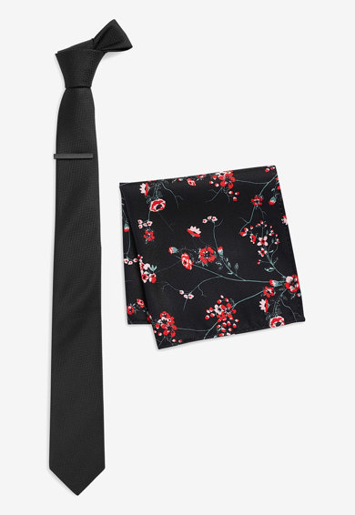 NEXT Set de cravata si batista decorativa Barbati