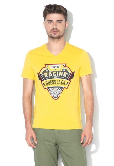 GUESS JEANS Риза с флорална шарка Мъже