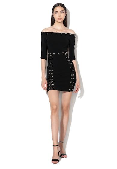 14b91389ad2 Къса рокля по тялото - GUESS JEANS (W91K94-Z1L60-JBLK)