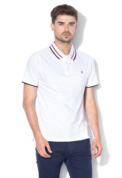 GUESS JEANS Тениска от пике с контрастна яка Мъже
