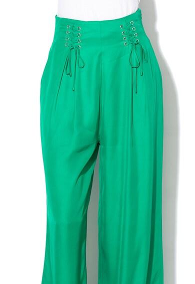 GUESS JEANS Панталон с широк крачол Жени